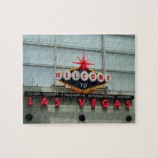 Welcome to Las Vegas Airport Sign Jigsaw Puzzle