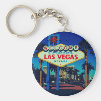 Welcome to Las Vegas! Basic Round Button Keychain