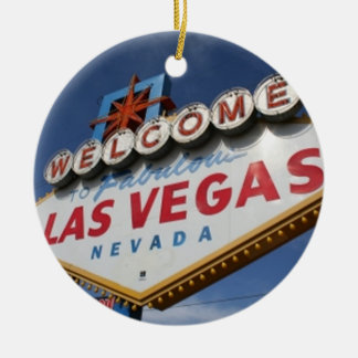 Welcome To Las Vegas Ceramic Ornament