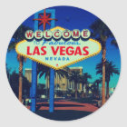 Welcome to Las Vegas! Classic Round Sticker