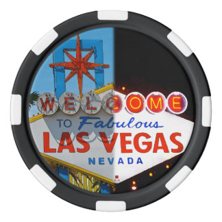 Welcome to Las Vegas - day or night Set Of Poker Chips