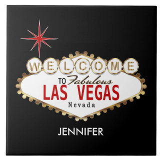 Welcome to Las Vegas - Red and Gold Tile