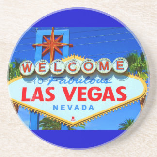 Welcome to Las Vegas Sign Sandstone Coaster