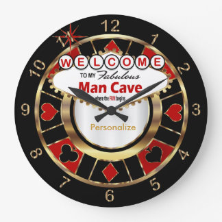 Welcome to Las Vegas Style Man Cave! Wall Clock