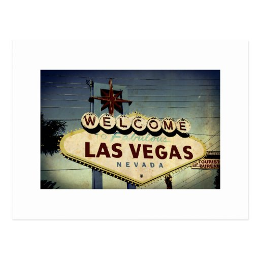 """Welcome To Las Vegas"" Vintage Post Card"