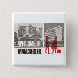 Welcome to Manchester 2 Inch Square Button