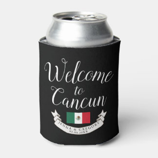 Welcome to Mexico | Destination Wedding Custom Can Cooler