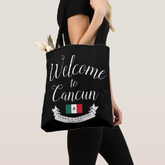 Welcome to Mexico | Destination Wedding Custom Tote Bag