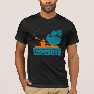 Welcome to Michigan (MI) - Colour Logo. T-Shirt