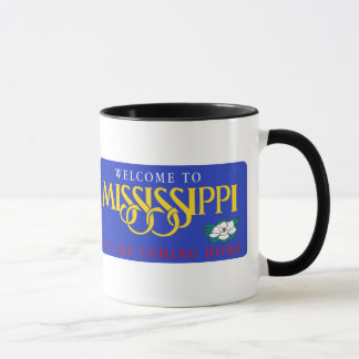 Welcome to Mississippi - USA Road Sign Mug