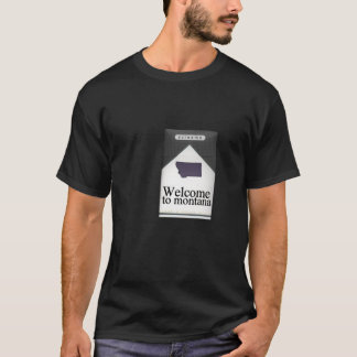 Welcome To Montana Cigarette Box T-Shirt