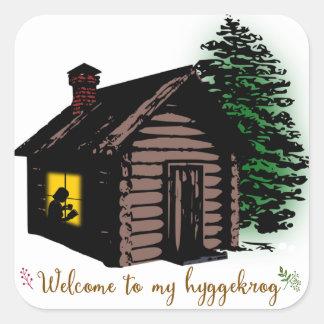 Welcome to my Hyggekrog Square Sticker