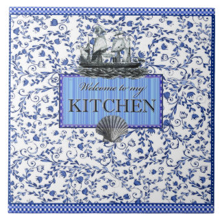 """Welcome to my Kitchen"" Ceramic Tile (6"" X 6"")"