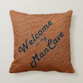 Welcome to my Man Cave Throw Pillow