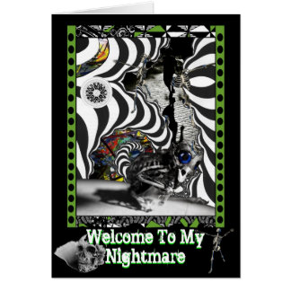 Welcome To My Nightmare Card