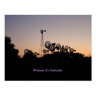 Welcome To Nebraska Postcard