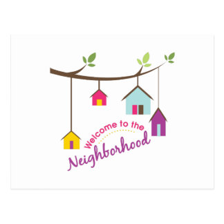 Welcome To Neighborhood Postcard