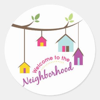 Welcome To Neighbourhood Round Sticker