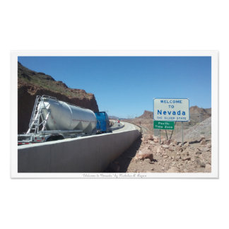 """""""Welcome to Nevada,"""" Nevada State Sign Art Photo"""