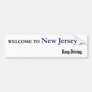Welcome to New Jersey Bumper Sticker