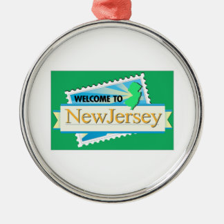 Welcome to New Jersey - USA Road Sign Metal Ornament