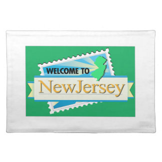 Welcome to New Jersey - USA Road Sign Placemats