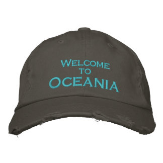 Welcome to Oceania Embroidered Hat