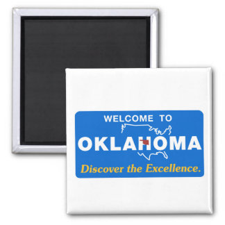 Welcome to Oklahoma - USA Road Sign Magnet