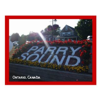 Welcome to Ontario,Canada-Parry Sound Postcard