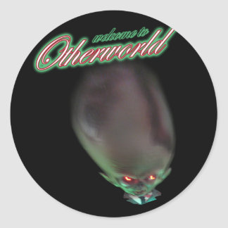welcome to Otherworld funny zombie alien monster Round Sticker