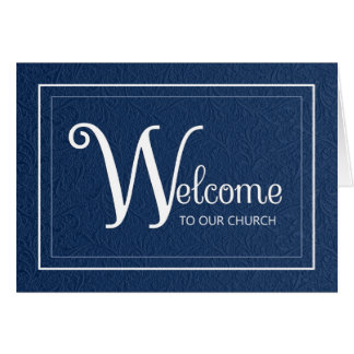 Welcome to our Church Greeting Card