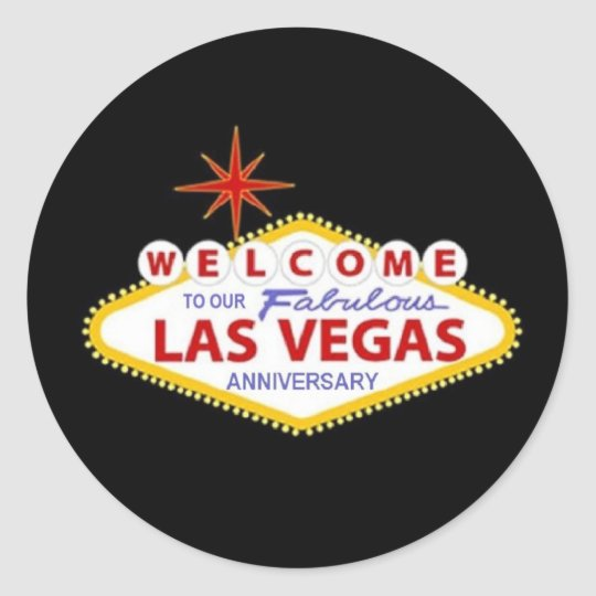 WELCOME TO OUR FABULOUS L V Anniversary Sticker