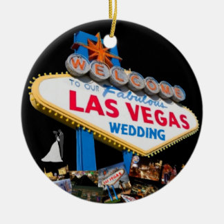 Welcome To Our Fabulous Las Vegas Wedding Ornament
