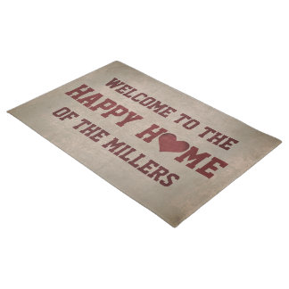 Welcome to our Happy Home (customizable) Doormat