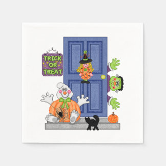 Welcome To Our Home Halloween Party Paper Napkins