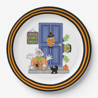 Welcome To Our Home Halloween Party Paper Plates 9 Inch Paper Plate