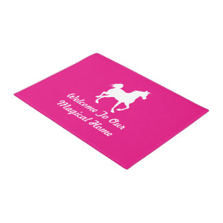 Welcome To Our Magical Home - Unicorn - Pink Doormat
