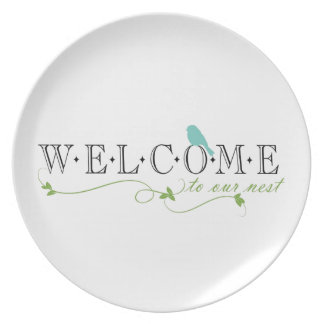 Welcome To Our Nest Quote Party Plates