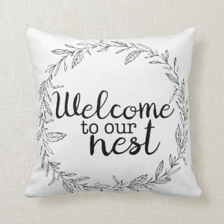 Welcome to Our Nest Welcome Sign Pillow