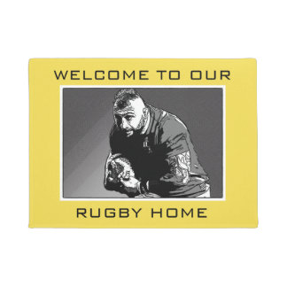 Welcome To Our Rugby Home Door Mat