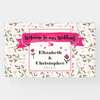 Welcome To Our Wedding Wildflowers Banner