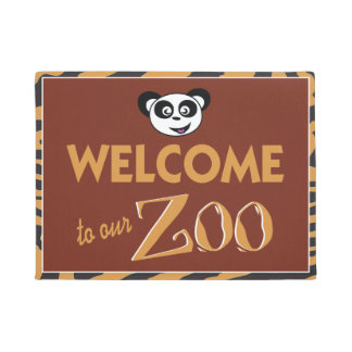 Welcome to our Zoo funny Doormat