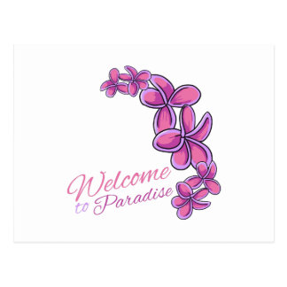 Welcome To Paradise Postcard