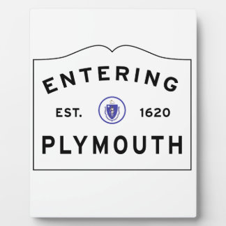 Welcome to Plymouth MA Plaque
