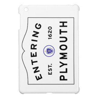 Welcome to Plymouth MA town sign iPad Mini Cases