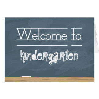 Welcome to School Chalkboard with smudge marks Card