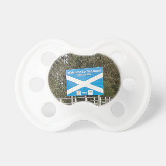 Welcome to Scotland - Anglo-Scottish Border Sign Baby Pacifier