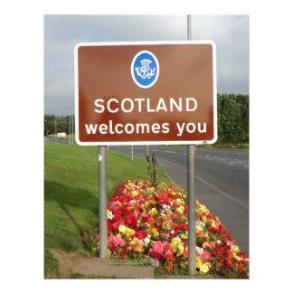 Welcome to Scotland - Anglo-Scottish Border Sign Custom Letterhead