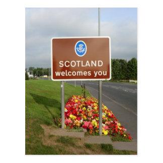 Welcome to Scotland - Anglo-Scottish Border Sign Postcard