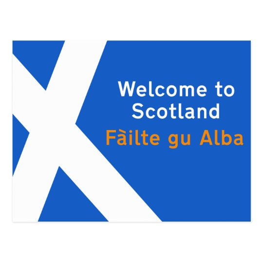 Welcome to Scotland, Sign, UK Postcard